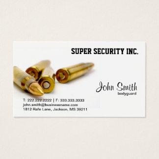 Cartes De Visite Balles de garde du corps de sécurité