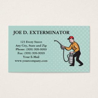 Cartes De Visite Bande dessinée de pulvérisation de travailleur