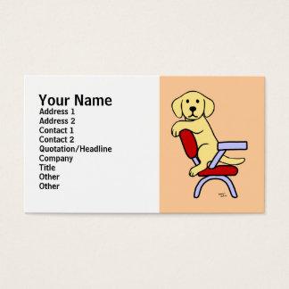 Cartes De Visite Bande dessinée jaune de l'étudiant 3 de Labrador