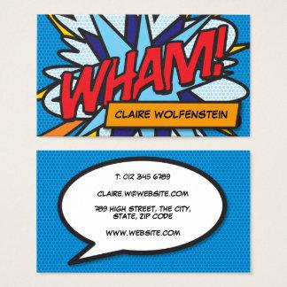Cartes De Visite Bande dessinée personnalisée d'art de bruit VLAN !