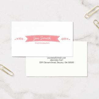 Cartes De Visite bannière rose