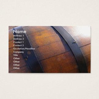 Cartes De Visite Baril de vin