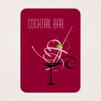 Cartes De Visite Barman de boîte de nuit de barre de cocktail