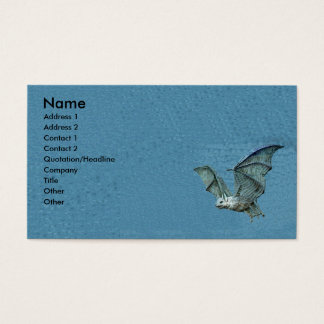 Cartes De Visite Batte de bleu du vol 3d