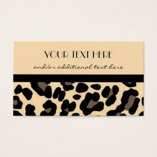 Cartes De Visite Beau dans le léopard