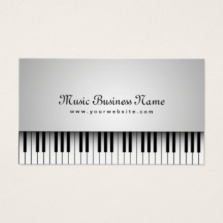 Cartes De Visite Beau piano à queue blanc de musique