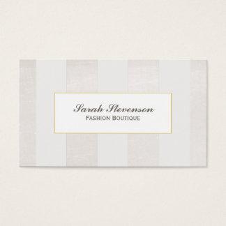 Cartes De Visite Beige et blanc barre la boutique monochromatique