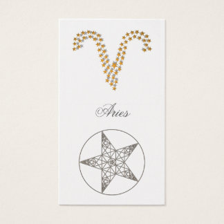 Cartes De Visite Bélier de signet (signe de zodiaque)