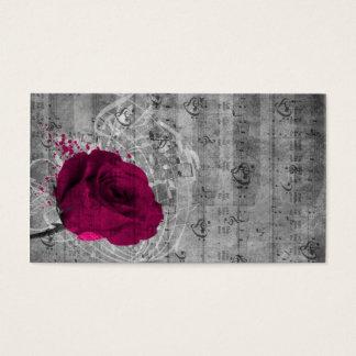 Cartes De Visite Belle éclaboussure antique de peinture de rose de