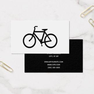 Cartes De Visite Bicyclette noire
