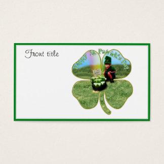 Cartes De Visite Bière chanceuse d'o de pot du jour de St Patrick