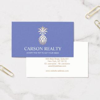 Cartes De Visite Bigorneau élégant de logo d'ananas d'immobiliers