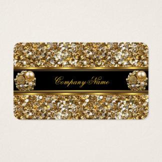 Cartes De Visite Bijou élégant de parties scintillantes d'or