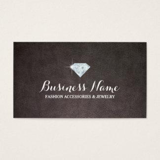 Cartes De Visite Bijoux modernes d'arrière - plan de cuir de