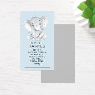 Cartes De Visite Billet de tombola de couche-culotte de baby shower