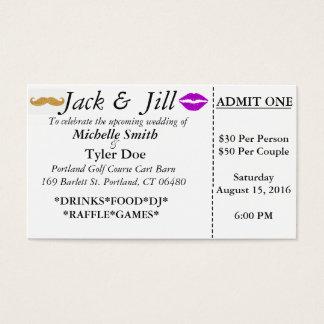 Cartes De Visite Billets de Jack et de Jill