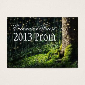 Cartes De Visite Billets enchantés de bal d'étudiants de forêt -