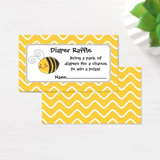 Cartes De Visite Billets, jaune et noir de tombola de
