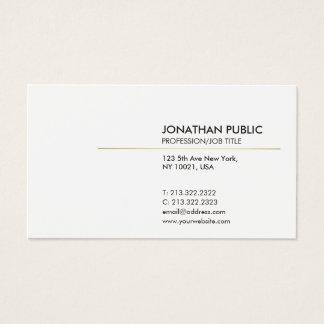 Cartes De Visite Blanc élégant et moderne simple de Minimalistic