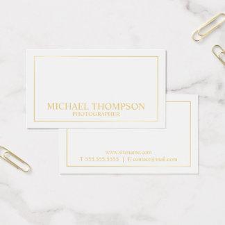 Cartes De Visite Blanc élégant professionnel et or