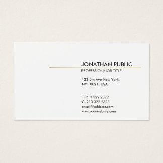 Cartes De Visite Blanc et moderne simple élégant de Minimalistic