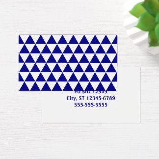 Cartes De Visite Blanc et motif de triangle de marine