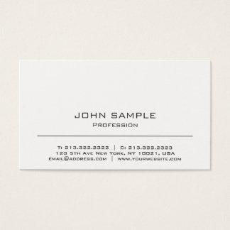 Cartes De Visite Blanc moderne de Minimalistic et gris