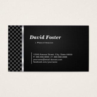 Cartes De Visite Blanc noir Checkered de pédiatre