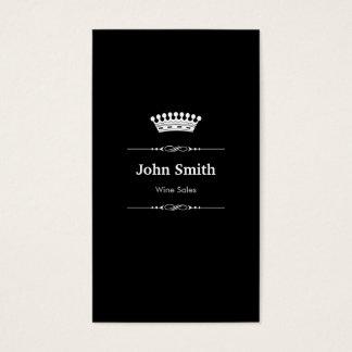 Cartes De Visite Blanc noir royal élégant de ventes de vin