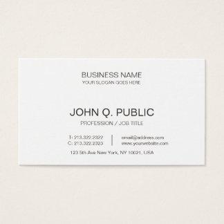 Cartes De Visite Blanc simple élégant d'entreprise de Minimalistic
