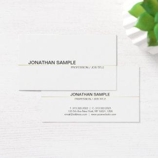 Cartes De Visite Blanc simple professionnel moderne simple chic à
