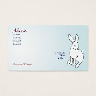 Cartes de visite blancs de lapin