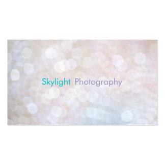 Cartes de visite blancs et bleus de photographie d