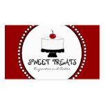 Cartes de visite blancs noirs rouges de boulangeri cartes de visite professionnelles