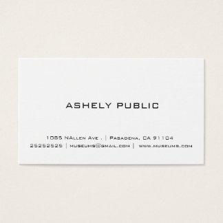 Cartes de visite blancs simples professionnels
