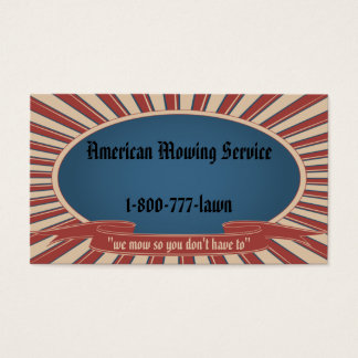 Cartes De Visite Bleu americana