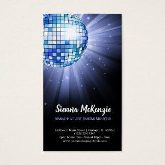 Cartes De Visite Bleu de boule de disco