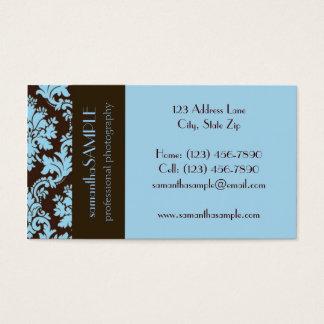 Cartes De Visite Bleu de chocolat