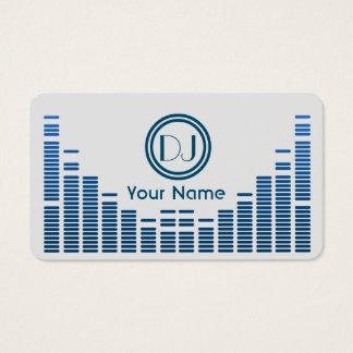 Cartes De Visite Bleu de jeu de musique d'égaliseur du DJ ombragé