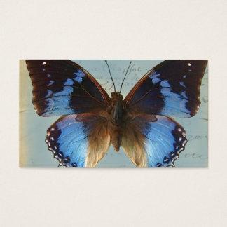 Cartes De Visite Bleu de Papillon