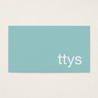 Cartes De Visite Bleu de turquoise de Minimalistic de mise en