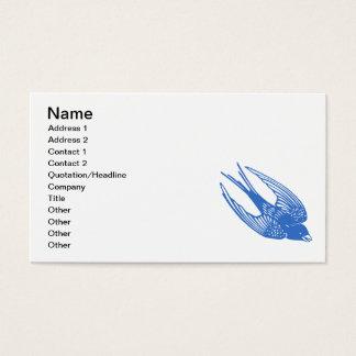 Cartes De Visite Bleu d'oiseau d'hirondelle