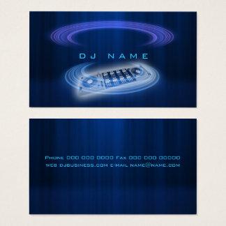 Cartes De Visite Bleu du DJ