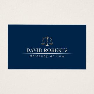 Cartes De Visite Bleu et or professionnels d'avocat de mandataire