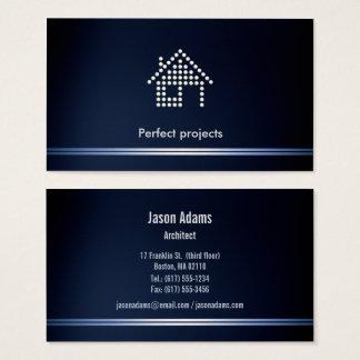 Cartes De Visite Bleu parfait de projet d'architecte