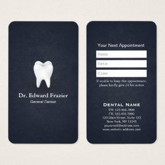 Cartes De Visite Bleu professionnel de rendez-vous de dentiste de