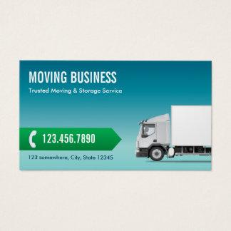 Cartes De Visite Bleu professionnel d'entreprise de déménagement