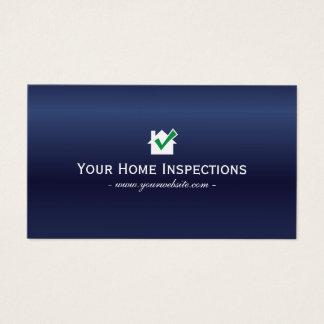 Cartes De Visite Bleu royal à la maison d'immobiliers d'inspections