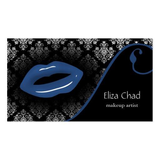 cartes de visite bleus de maquilleur carte de visite