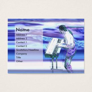 Cartes De Visite Bleus de musicien - potelés